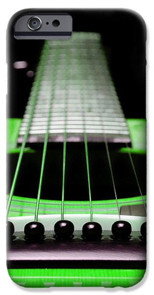 Neon Green Guitar 18 iPhone Case by Andee Design