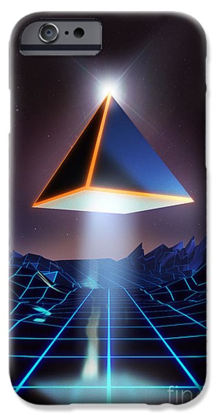 Tron iPhone Cases - Neon Road  iPhone Case by Pixel Chimp