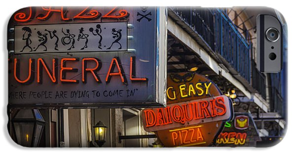 Building iPhone Cases - Neon Signs New Orleans iPhone Case by Garry Gay