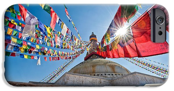 Tibetan Buddhism iPhone Cases - Nepals Heritage iPhone Case by Ulrich Schade