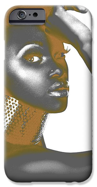 Black Pyrography iPhone Cases - Nesha iPhone Case by Naxart Studio