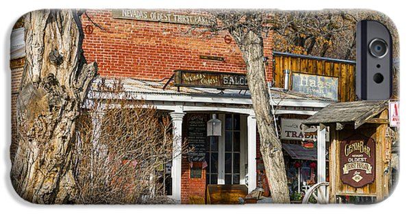 Genoa Bar iPhone Cases - Nevada Thirst Parlor iPhone Case by Jens Peermann