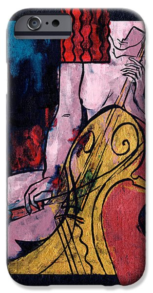 Mood Paintings iPhone Cases - Never Alone iPhone Case by Elisabeta Hermann