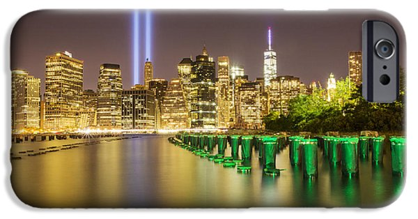 Twin Towers Nyc iPhone Cases - Never Forget iPhone Case by Jo Hendley