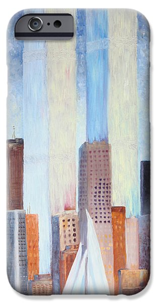 Twin Towers Nyc iPhone Cases - Never Forget iPhone Case by Vickie Schafer