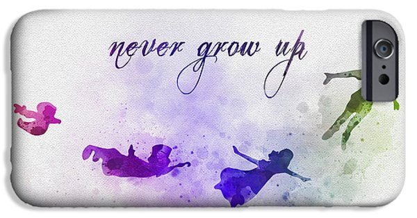 Recently Sold -  - Animation iPhone Cases - Never Grow Up iPhone Case by Rebecca Jenkins