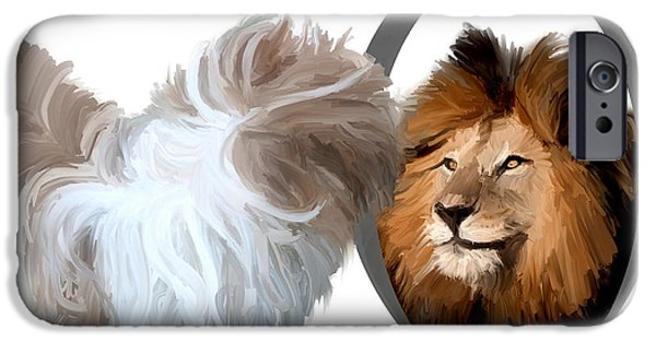 Dogs iPhone Cases - Never see in the mirror iPhone Case by Richard Okun