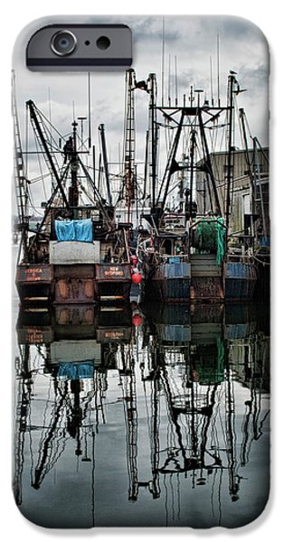 Wampanoag iPhone Cases - New Bedford Waterfront No. 1 - Color iPhone Case by David Gordon