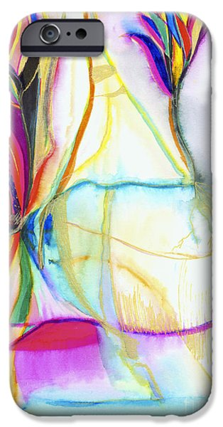Nature Abstracts iPhone Cases - New Beginnings iPhone Case by Zeva Mirankar