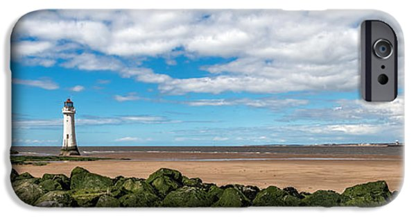 Beach Landscape iPhone Cases - New Brighton Lighthouse  iPhone Case by Adrian Evans