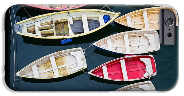 Cape Neddick Lighthouse iPhone Cases - New England boats 3  iPhone Case by Emmanuel Panagiotakis