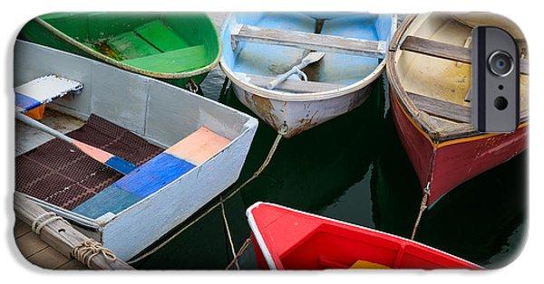 Cape Neddick Lighthouse iPhone Cases - New England Boats iPhone Case by Emmanuel Panagiotakis