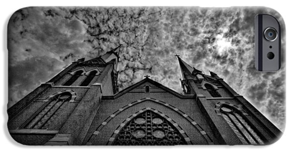 Drama iPhone Cases - New England Church #2 iPhone Case by Stuart Litoff