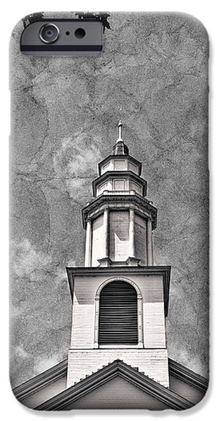 White House iPhone Cases - New England Church Steeple #2 iPhone Case by Stuart Litoff