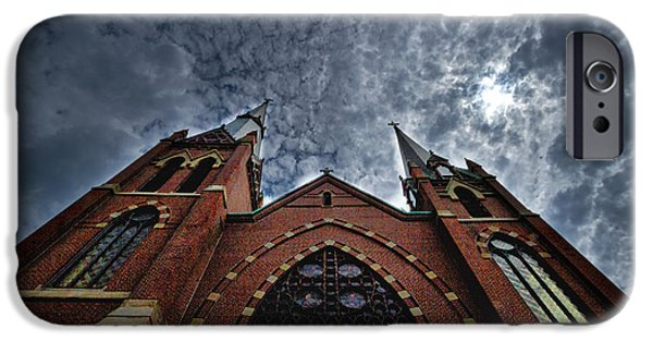 Drama iPhone Cases - New England Church iPhone Case by Stuart Litoff