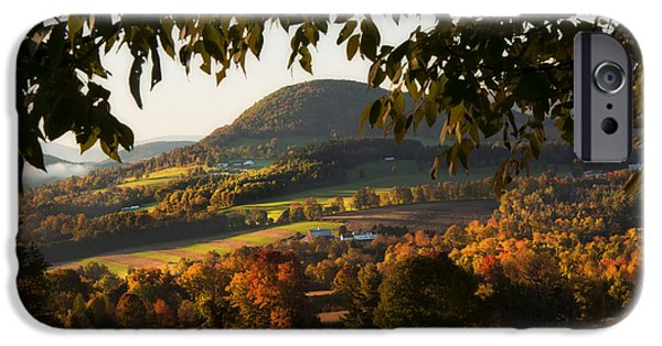 Fall iPhone Cases - New England Fall Foliage - Peacham Vermont iPhone Case by Joann Vitali