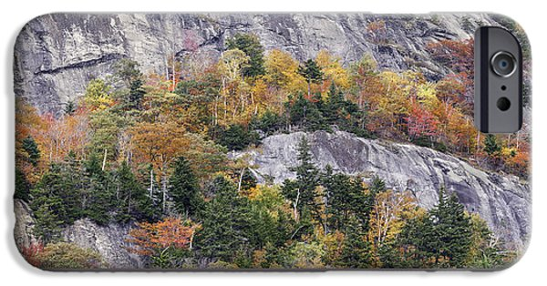 Ledge iPhone Cases - New England Foliage Burst iPhone Case by Thomas Schoeller