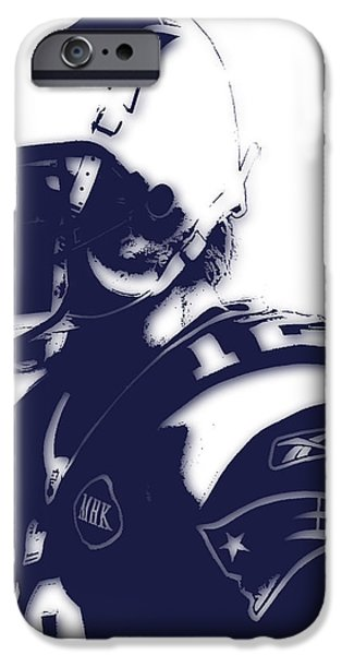Patriots iPhone Cases - New England Patriots Tom Brady 4 iPhone Case by Joe Hamilton