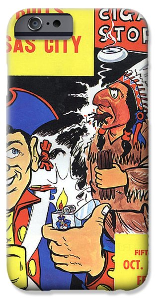 Patriots iPhone Cases - New England Patriots Vintage Program iPhone Case by Joe Hamilton