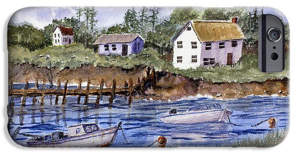 Ledge iPhone Cases - New England Shore - Marine Art iPhone Case by Barry Jones