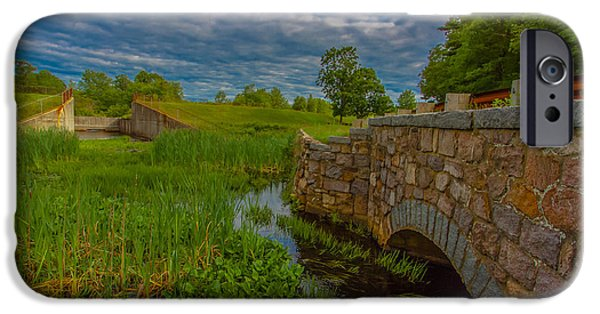 Boston Ma iPhone Cases - New England Stone Bridge iPhone Case by Brian MacLean