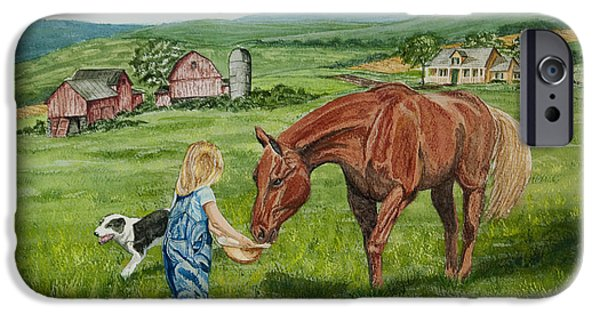 Recently Sold -  - Old Barns iPhone Cases - New Friends iPhone Case by Charlotte Blanchard