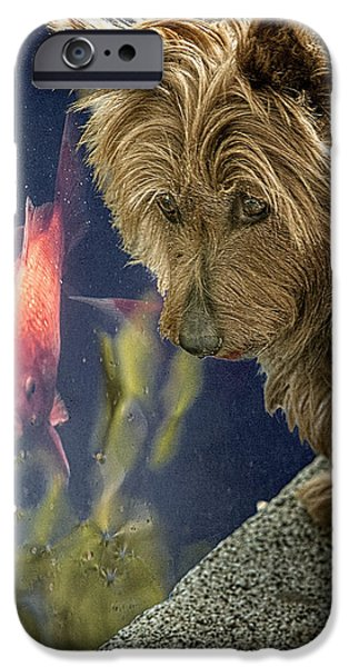 Puppy Digital Art iPhone Cases - New Friends iPhone Case by Chris Lord