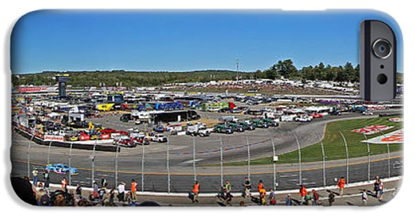 Racing iPhone Cases - New Hampshire Motor Speedway iPhone Case by Juergen Roth