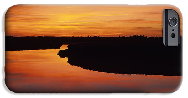 Salt Marsh. New England iPhone Cases - New Hampshire salt marsh at sunrise iPhone Case by Erin Paul Donovan