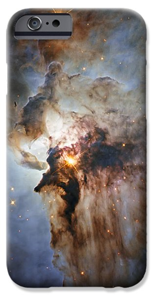 Constellations iPhone Cases - New Hubble view of the Lagoon Nebula iPhone Case by Adam Romanowicz