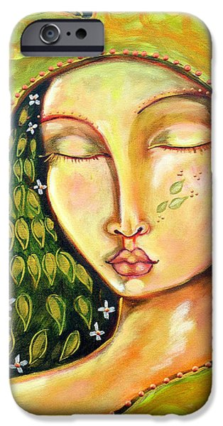 Cosmic Paintings iPhone Cases - New Life iPhone Case by Shiloh Sophia McCloud