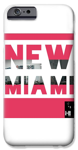 Cities Tapestries - Textiles iPhone Cases - New Miami  iPhone Case by HI Level