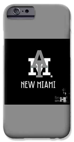 Cities Tapestries - Textiles iPhone Cases - New Miami Smoke iPhone Case by HI Level