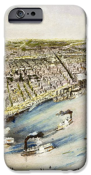 NEW ORLEANS, 1851 iPhone Case by Granger