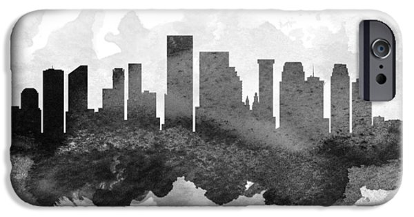 iPhone Cases - New Orleans Cityscape 11 iPhone Case by Aged Pixel
