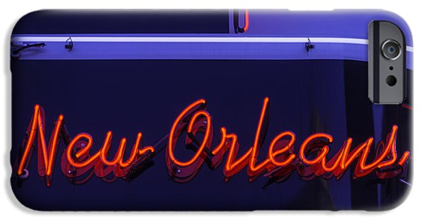 Building iPhone Cases - New Orleans Neon iPhone Case by Garry Gay