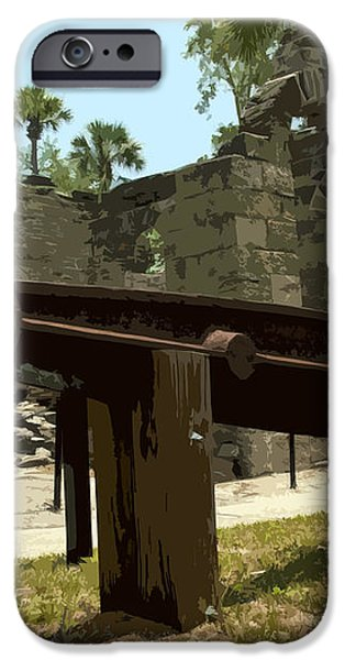 New Smyrma Sugar Mill iPhone Case by Allan  Hughes