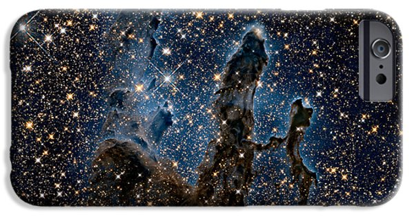Stellar iPhone Cases - New View of the Pillars of Creation - Infrared iPhone Case by Eric Glaser