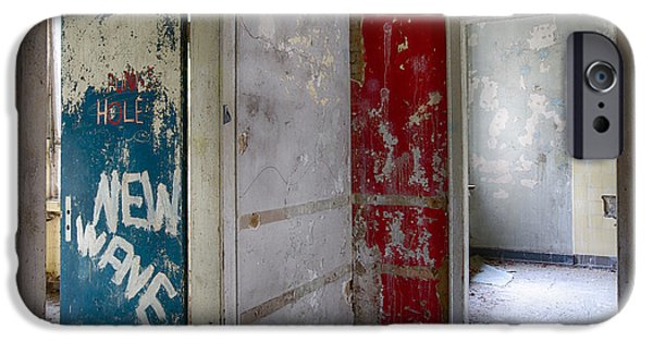 Haunted House iPhone Cases - New Wave - Abandoned Building iPhone Case by Dirk Ercken
