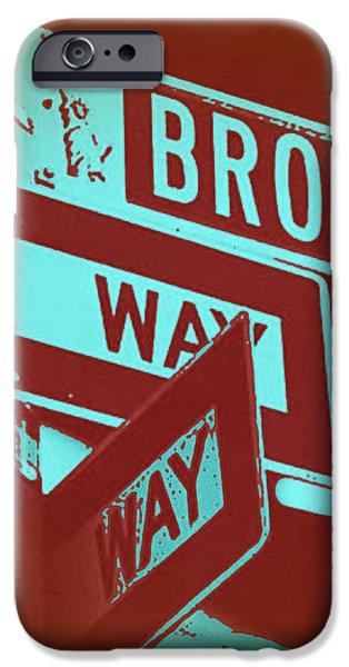 New York Broadway Sign iPhone Case by Naxart Studio