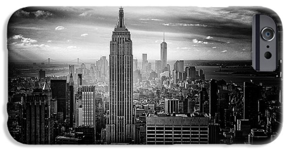 _city iPhone Cases - New York City iPhone Case by FL collection