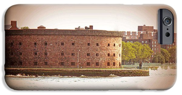 Hudson River iPhone Cases - New York City - Governers Island iPhone Case by Luther   Fine Art