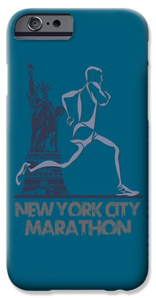 City. Boston iPhone Cases - New York City Marathon3 iPhone Case by Joe Hamilton