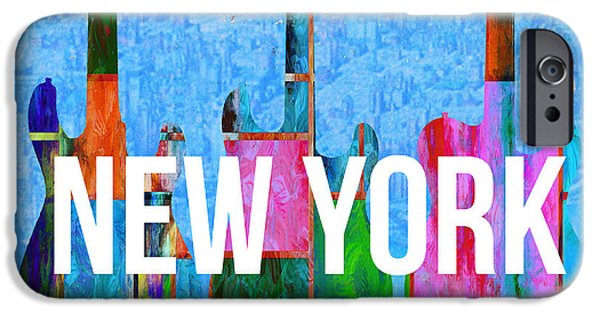 Electric Drawings iPhone Cases - New York City Music Scene iPhone Case by Edward Fielding