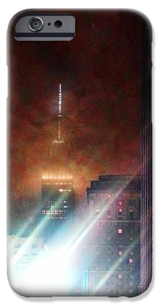 Empire State iPhone Cases - New York City Night iPhone Case by Joseph J Stevens