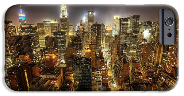 Empire State iPhone Cases - New York City Night iPhone Case by Shawn Everhart
