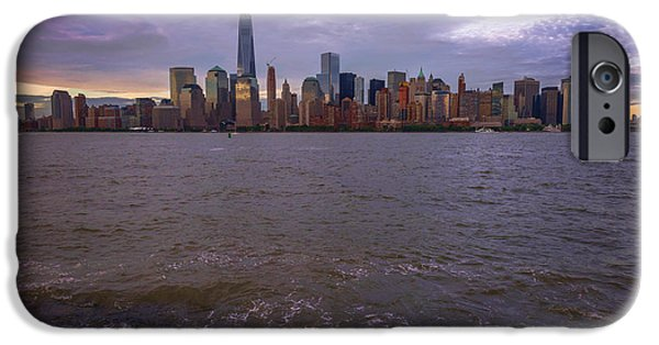 Empire State iPhone Cases - New York City Across The River iPhone Case by Terry DeLuco