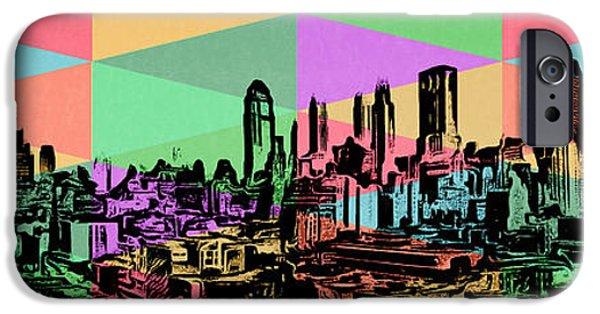 Diversity iPhone Cases - New York City Skyline Rainbow iPhone Case by Edward Fielding