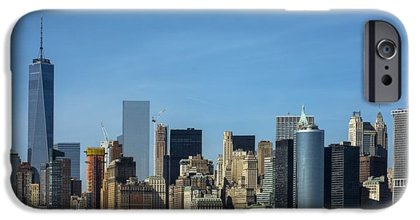 Freedom iPhone Cases - New York City Skyline Staten Island Ferry iPhone Case by KM Corcoran