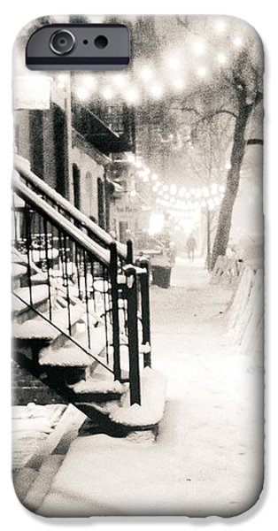 East Village iPhone Cases - New York City - Snow iPhone Case by Vivienne Gucwa
